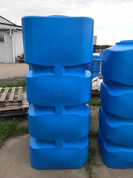 Вертикальна пластикова ємність, 1000 л. BК -1000 - Фото №2