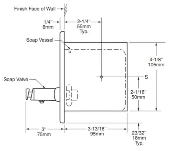 Дозатор жидкого мыла встраиваемый 1,3 л.  306 - Фото №4
