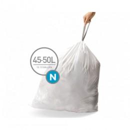 Мішки для сміття міцні із зав`язками 45-50л SIMPLEHUMAN.  CW0262 - Фото