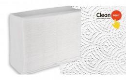 Паперові рушники листові, білі, Z-складання, 2 шари, CleanPoint, Standart. ZL-200. - Фото