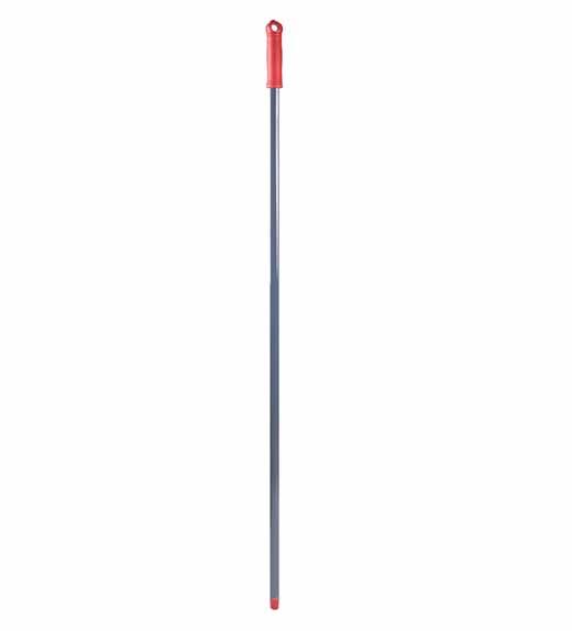 Рукоятка металева, різьба, червона, 130 см * 21 мм. MSG287R - Фото №1