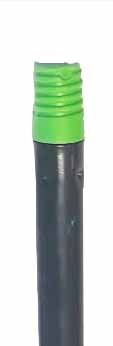 Рукоятка металева, різьба, зелена, 130 см * 21 мм. MSG287G - Фото №2
