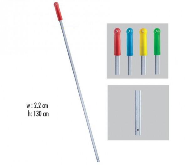 Рукоятка алюмінієва з отвором, червона  130 см * 22 мм. ALS285R - Фото №2