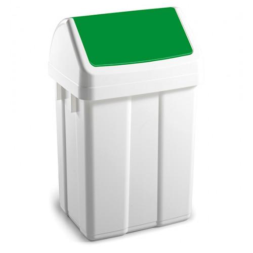 Урна для сміття з поворотною кришкою 12л.  00005222 - Фото №1