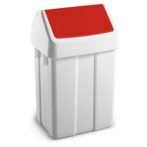Урна для сміття з поворотною кришкою 12л.  00005221 - Фото №1