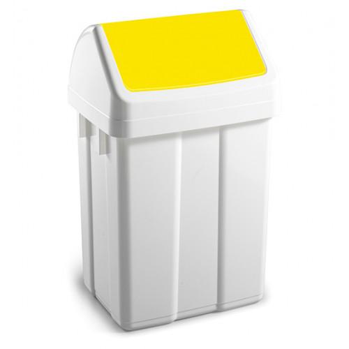Урна для сміття з поворотною кришкою 12л.  00005223 - Фото №1
