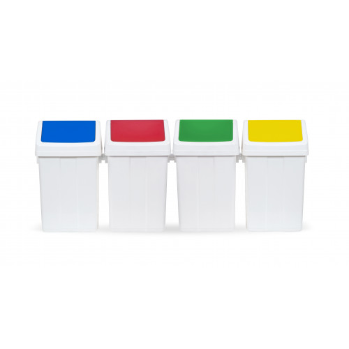 Урна для сміття з поворотною кришкою 12л.  00005223 - Фото №3