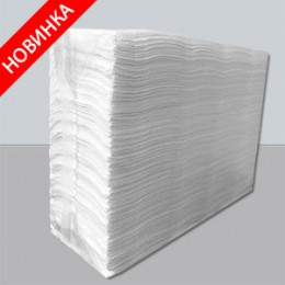Бумажные полотенца листовые,  V-укладка, целлюлозные. PRZ-160.