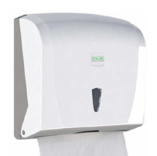 Держатель бумажных полотенец C, V складка, белый пластик. K40 - Фото №1