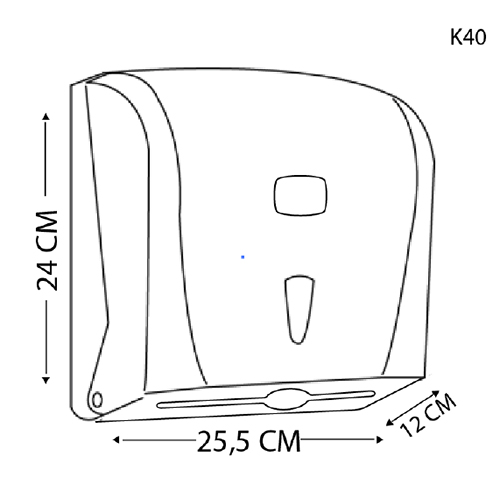 Держатель бумажных полотенец C, V складка, белый пластик. K40 - Фото №2