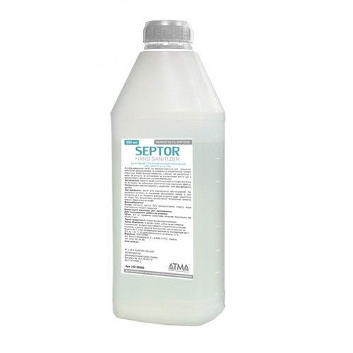 Засіб рідкий гігієнічний антибактеріальний для шкіри рук та тіла SEPTOR 900мл.  HS150900 - Фото №1