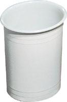 Корзина для мусора открытая пластик белый, 6л. 565. - Фото №1