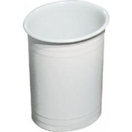 Корзина для мусора открытая пластик белый, 6л. 565. - Фото