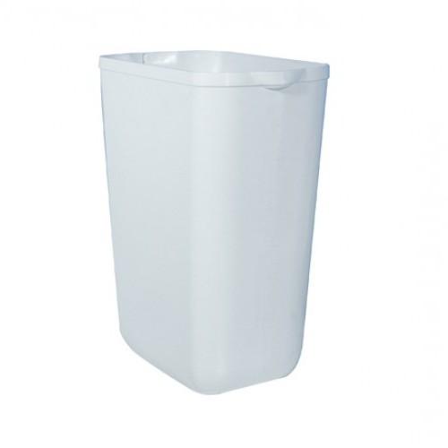Урна для сміття 23л PRESTIGE, пластик білий. A74201 - Фото №1
