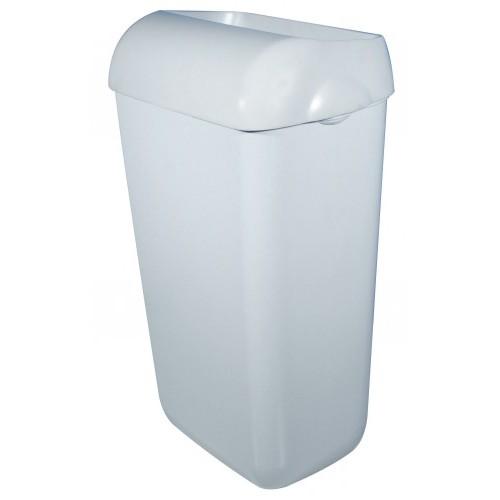 Урна для сміття 23л PRESTIGE, пластик білий. A74201 - Фото №2