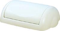 Урна для сміття 23л PRESTIGE, пластик білий. A74201 - Фото №4