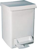 Корзина для сміття з педаллю пластик білий 6 л. A51401 - Фото №1