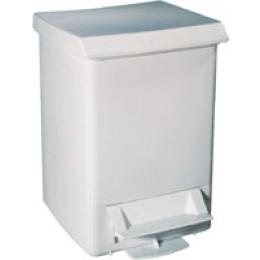 Корзина для сміття з педаллю пластик білий 6 л. A51401