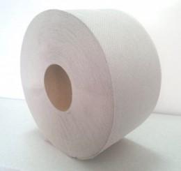 Туалетная бумага рулонная, макулатура серая, 110 метров. Джамбо-75 - Фото