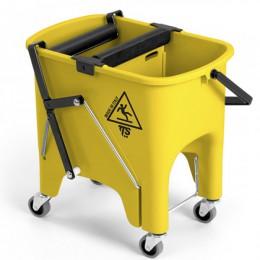 Ведро для уборки с отжимом SQUIZZY 15л на колесах. 0G006415 - Фото