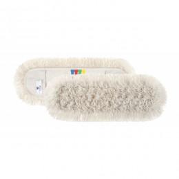 Моп (запаска) 60см для сухого прибирання бавовна Basic Cotton з кольоровим ярликом.  0M000136 - Фото