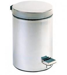 Корзина для мусора с педалью, нержавеющая сталь матовая, 12 л. S12LCS - Фото