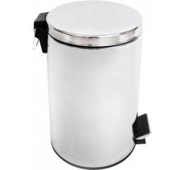 Корзина для мусора  с педалью 12 л,  нержавеющая сталь глянцевая. S12LC - Фото