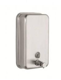 Дозатор жидкого мыла нержавеющая сталь, матовая, 0,5 л. 301300 - Фото