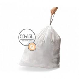 Мішки для сміття міцні із зав`язками 50-65л SIMPLEHUMAN.  CW0176 - Фото