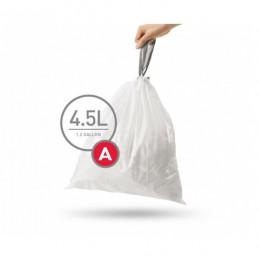 Мішки для сміття міцні із зав`язками 4.5л SIMPLEHUMAN.  CW0160 - Фото