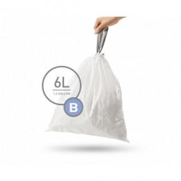 Мішки для сміття міцні із зав`язками 6л SIMPLEHUMAN.  CW0161 - Фото