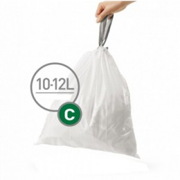 Мішки для сміття міцні із зав`язками 10-12л SIMPLEHUMAN.  CW0162 - Фото