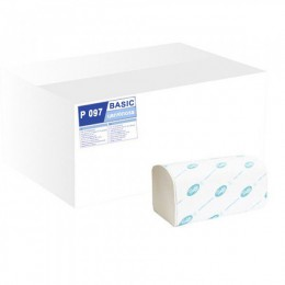 Полотенца бумажные BASIC.  P097 - Фото
