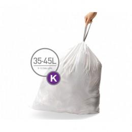 Мішки для сміття міцні із зав`язками 35-45л SIMPLEHUMAN.  CW0260 - Фото