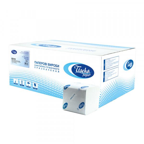 Туалетний папір у пачці ECO. V-складання, 200 аркушів.  B310 - Фото №1