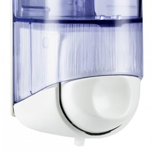 Дозатор рідкого мила 0.17 л, білий/прозорий, пластик. A58301 - Фото №2