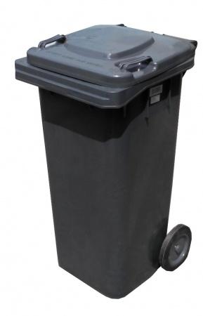 Бак для мусора  пластиковый, темно-серый, 120л.  120A-9DG - Фото №1