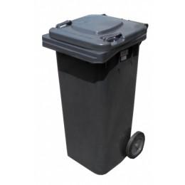 Бак для мусора  пластиковый, темно-серый, 120л.  120A-9DG - Фото