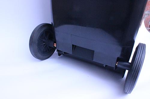 Бак для мусора  пластиковый, темно-серый, 120л.  120A-9DG - Фото №2
