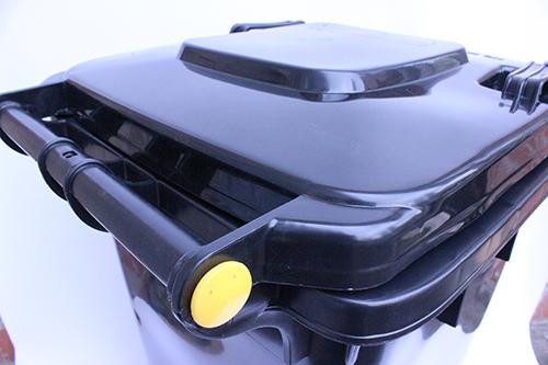 Бак для мусора  пластиковый, темно-серый, 120л.  120A-9DG - Фото №3