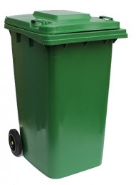 Бак для мусора  пластиковый 240 л., зеленый.  240H2-19G. - Фото