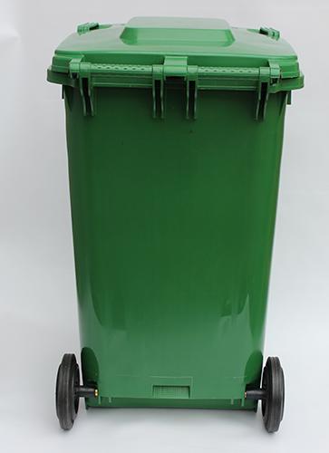 Бак для сміття  240 л., зелений.  240H2-19G. - Фото №2