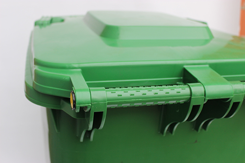 Бак для сміття  240 л., зелений.  240H2-19G. - Фото №3