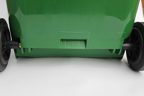 Бак для сміття  240 л., зелений.  240H2-19G. - Фото №4
