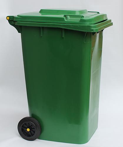 Бак для сміття  240 л., зелений.  240H2-19G. - Фото №5