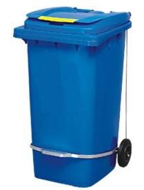Бак для сміття з педаллю 240л. Синій. 240A-11P2BL - Фото №1