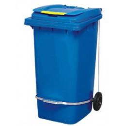 Бак для мусора  з педалью 240л. Синий. 240A-11P2BL - Фото