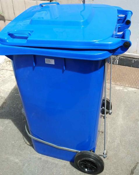 Бак для сміття з педаллю 240л. Синій. 240A-11P2BL - Фото №2