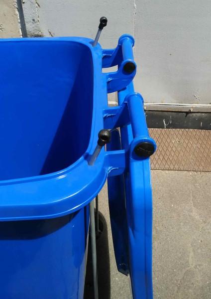 Бак для сміття з педаллю 240л. Синій. 240A-11P2BL - Фото №3