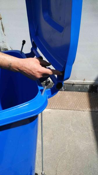 Бак для сміття з педаллю 240л. Синій. 240A-11P2BL - Фото №4